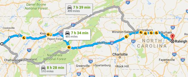 Low Carb Road Trip Map