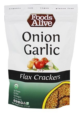 Foods Alive Onion Garlic Flax Crackers