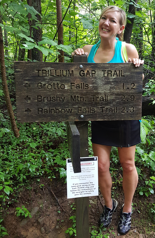 Hiking the Trillium Gap Trail in the Smoky Mountains