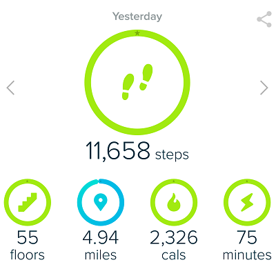 Fitbit Goals - Hiking with Fitbit