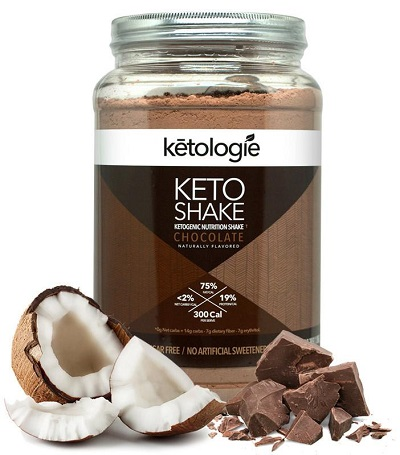 Ketologie Chocolate Keto Shake - LCHF and VERY Low Carb