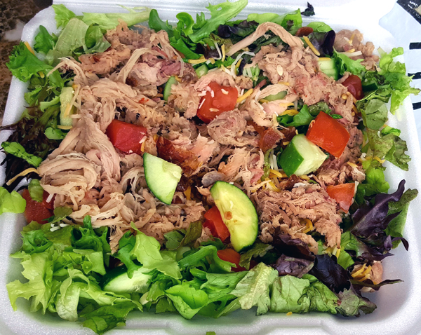 Low Carb Salad with Pulled Pork (LCHF Take-Out)