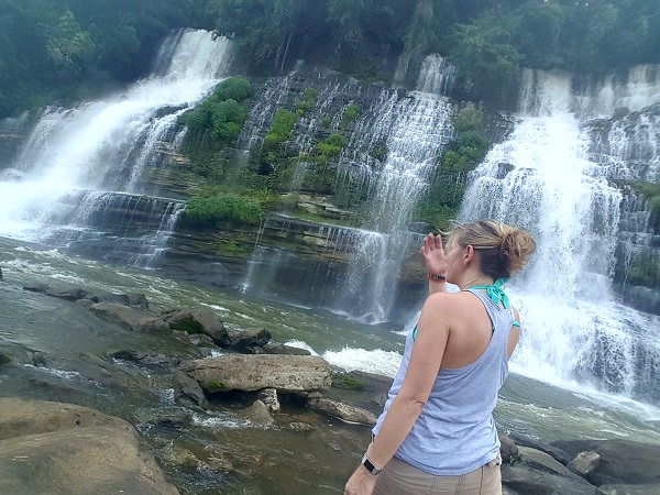 @LowCarbTraveler at Twin Falls in Rock Island, TN