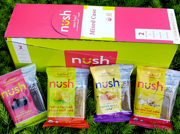 NUSH Foods Organic, Gluten Free Low Carb Cakes - Snacks On The Go!