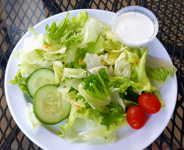Low Carb Side Salad with Ranch