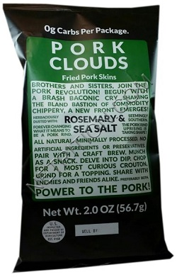 Rosemary Sea Salt Pork Clouds, Gluten Free and Zero Carbs