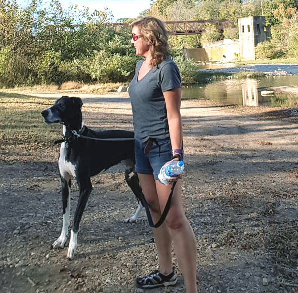 Walking my Great Dane - Fun Exercise!