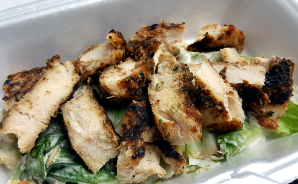 Low Carb Leftovers - Grilled Chicken Caesar Salad