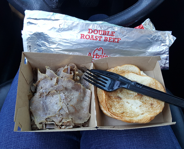 Low Carb at Arby's - In a rush, lol