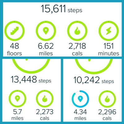 Fitbit Step Goals - 10000 Steps 3 Days In A Row!