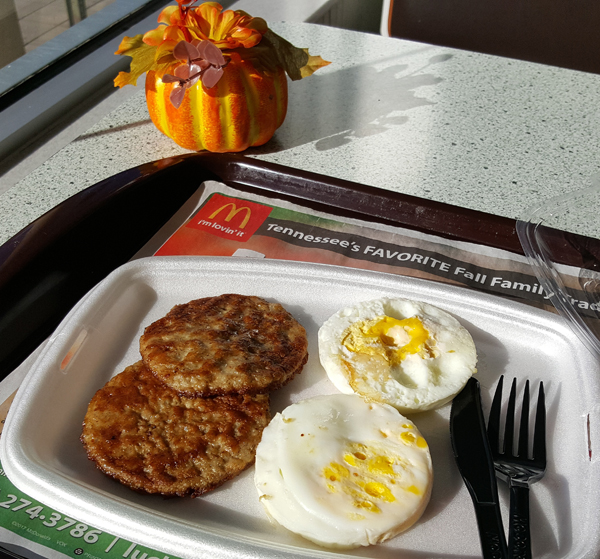 Low Carb Fast Food via All Day Breakfast at McDonald's