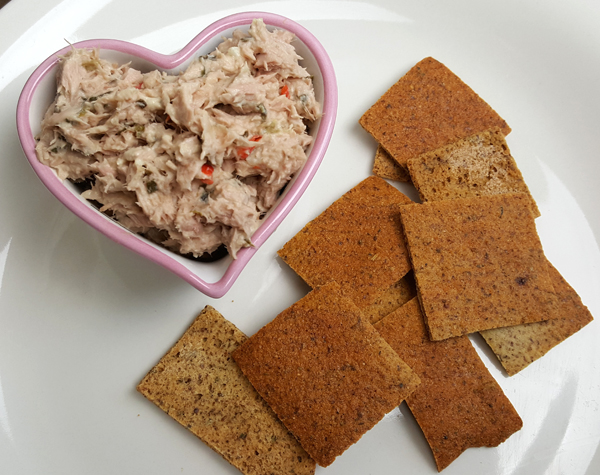 Low Carb Crackers with Tuna Salad