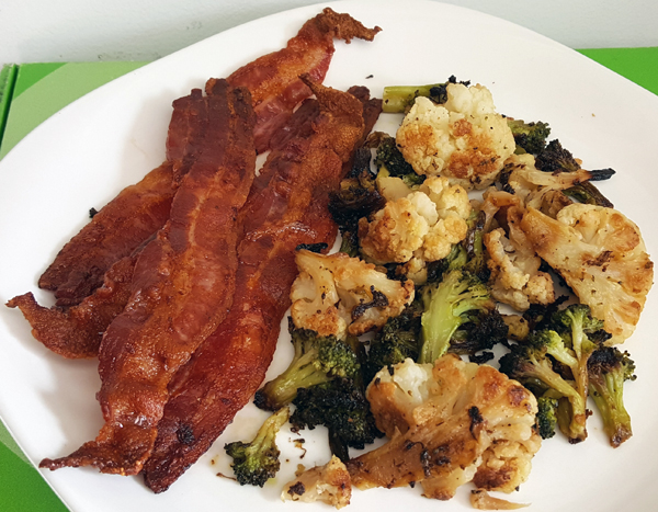 Bacon and Roasted Vegetables
