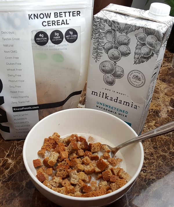 Low Carb Cereal and Milk