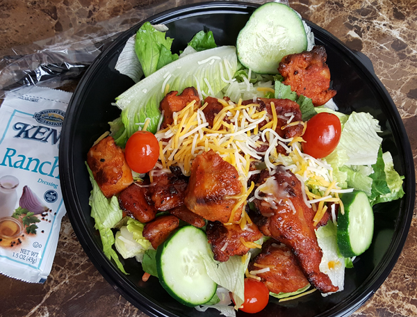 Bojangles Low Carb Fast Food - Roast Chicken Bites Salad