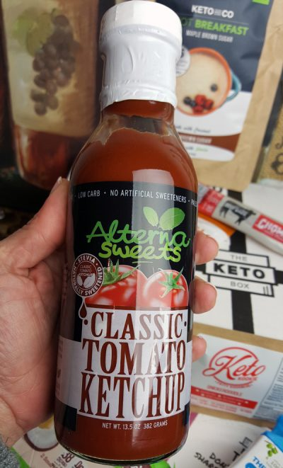 AlternaSweets Low Carb Ketchup - Vegan, Paleo, Gluten Free only 1 net carb