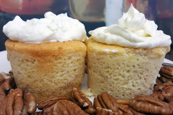 Low Carb Breakfast Ideas - Coconut SmartCakes are Gluten Free and Zero Net Carbs, great with Cream Cheese and Pecans!