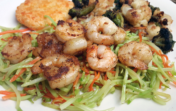 Low Carb Pescarian Meal - Remove Shrimp for Low Carb Vegetarians