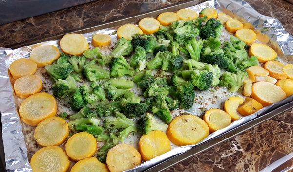 Roasting Frozen Vegetables - Easy Low Carb Meals