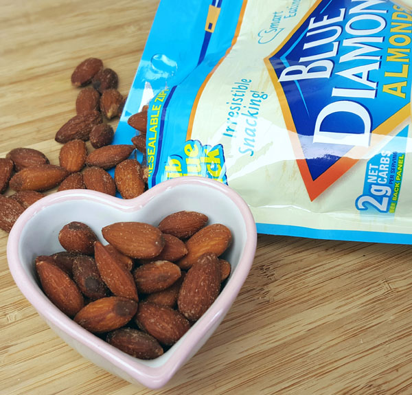 Keto Snacks - Blue Diamond Almonds, Low Carb and Atkins Friendly Snack Foods