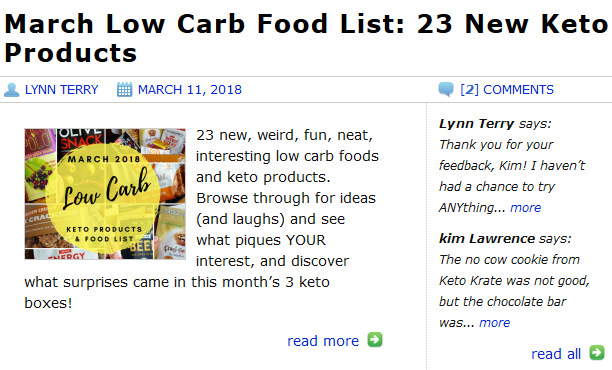 March Keto Boxes