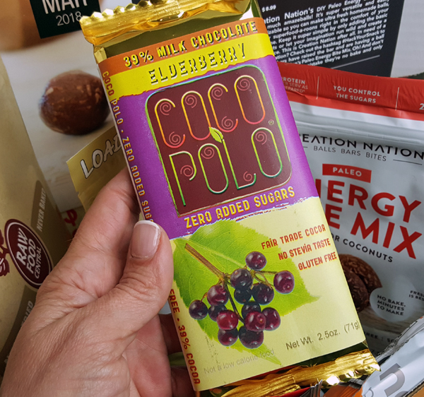 CocoPolo Elderberry Keto Chocolate Bar