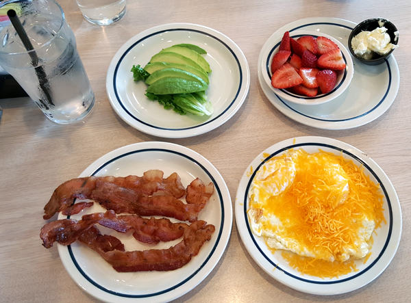 IHOP Low Carb Breakfast - Keto Friendly, Gluten Free and all Whole Foods