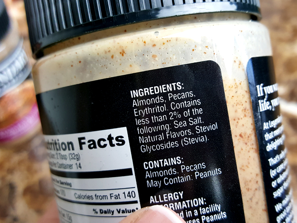 Pecan Pie Almond Butter Ingredients