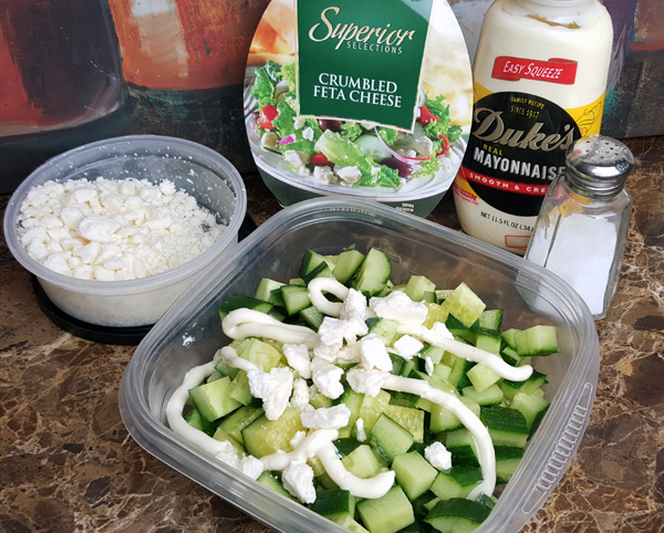 Simple Low Carb Sides - Easy Cucumber Salad