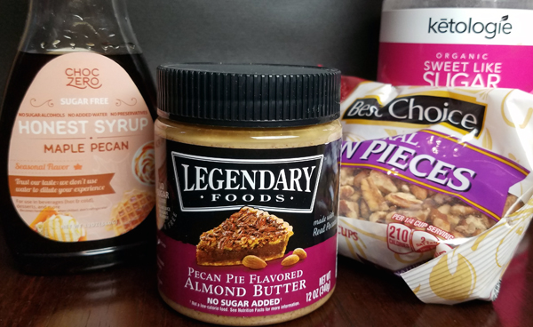 Keto Dessert Recipes - Ingredients for Low Carb Pecan Pie