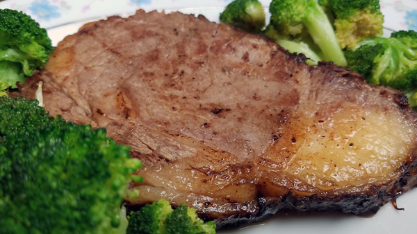 Low Carb Meat and Greens: Prime Rib and Broccoli Keto Dinner
