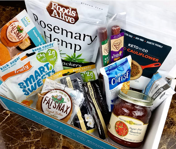 May Keto Delivered Box full of Low Carb Foods