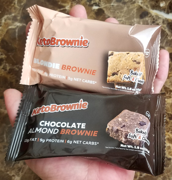 New Keto Brownie Products packaged for easy Low Carb On-the-Go!