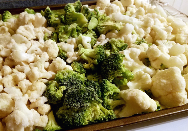 Roasting Frozen Vegetables - Easy Low Carb Sides