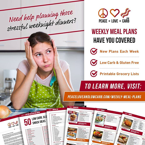 Weekly Low Carb Meal Plans