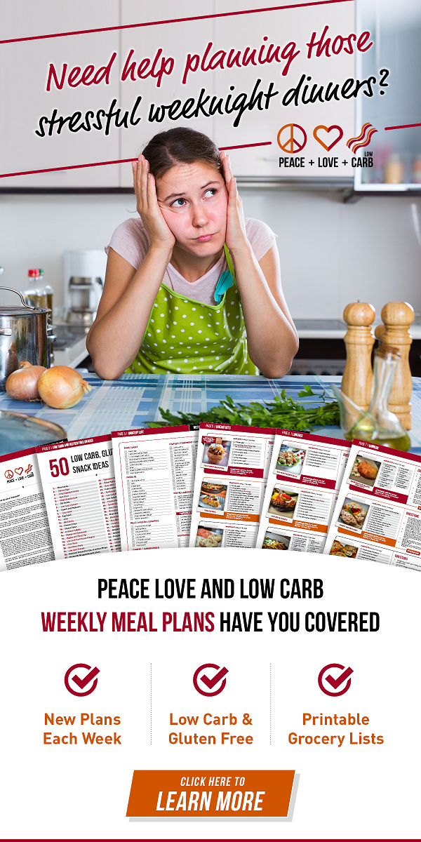 Weekly Low Carb Meal Plans and Low Carb Grocery Lists