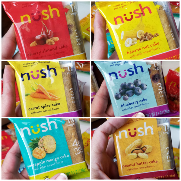 NUSH Cakes Variety Pack - Gluten Free, Low Carb and Keto Friendly Breakfast Snack Cakes