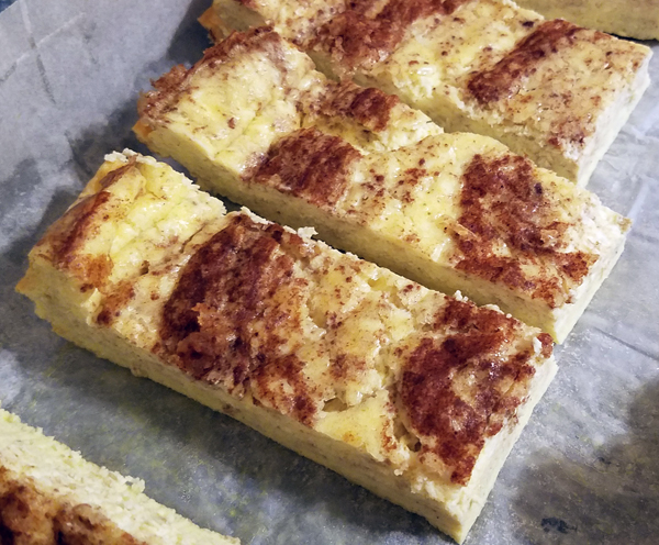 Making Keto French Toast Sticks from Egg Loaf