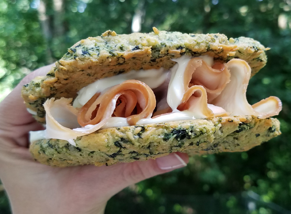Keto Sandwich on Low Carb Spinach Bread