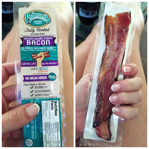 Pederson's Farms Nitrate Free Keto Friendly Bacon Snack for Low Carb On-the-Go