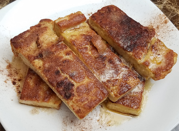 Low Carb French Toast made with Keto Egg Loaf Recipe
