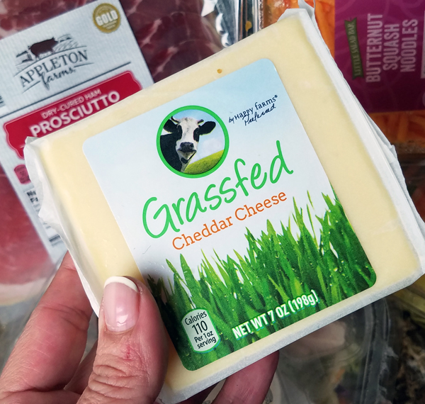 Happy Farms Grassfed Cheddar Cheese at Aldi Stores