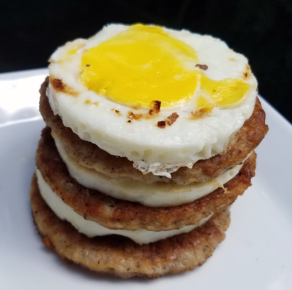 Keto Breakfast Stack - Sausage and Eggs Low Carb from McDonald's
