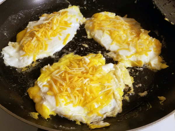 Keto Cheese Fried Eggs