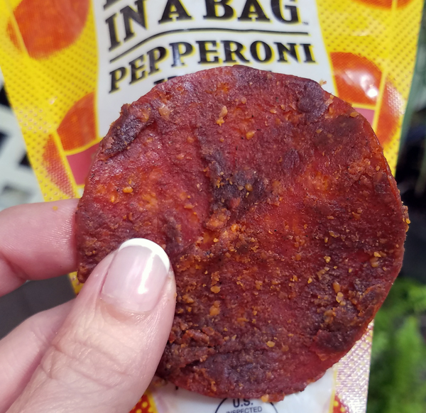 Keto Pepperoni Jerky Snacks - Pizza In A Bag by Super Snack Time