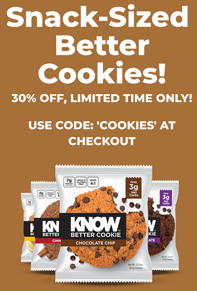 Know Foods Coupon Code for Know Better Cookies