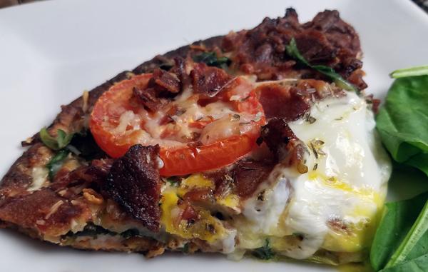 Low Carb Breakfast Pizza - Keto Breakfast Ideas