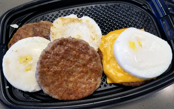 Low Carb Fast Food Breakfast at McDonald's
