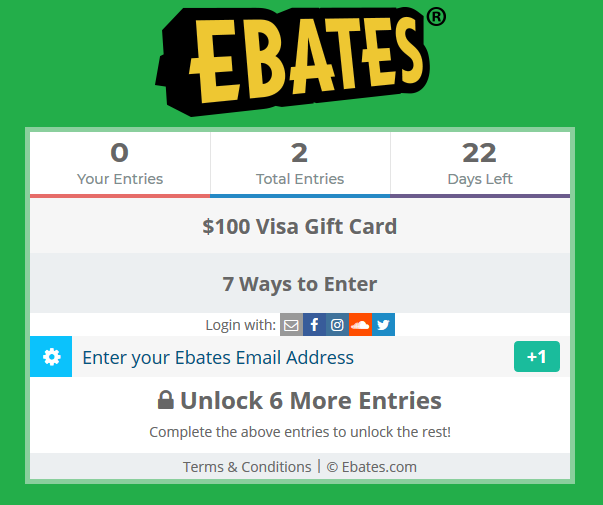 Giveaway - Enter To Win $100 Visa Gift Card