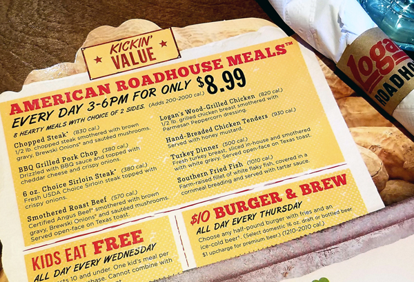 Logan's Roadhouse Deals